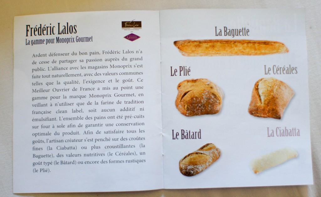 Les déclinaisons de pain de Frédéric Lalos pour Monoprix Gourmet