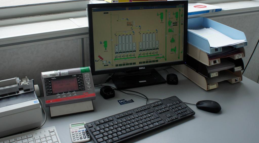 Sur son écran de contrôle, le chef meunier dispose d'une vision en temps réel des opérations de mouture en cours au sein du moulin.