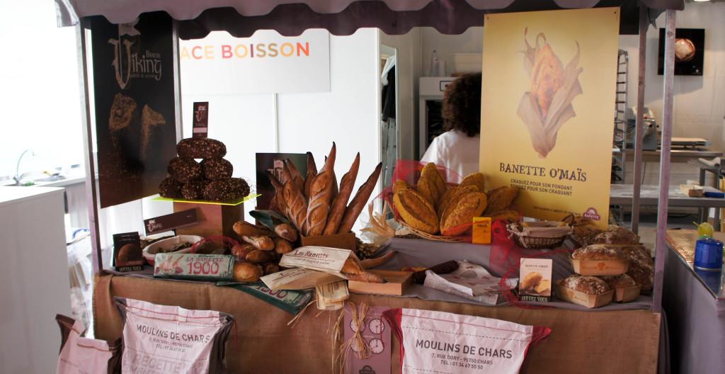 La gamme Banette ne représente qu'un petit stand comparé à celui dédié aux créations des Moulins de Chars... un signe de la volonté d'indépendance développée ici.