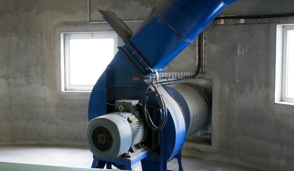 Une des machines de ventilation.