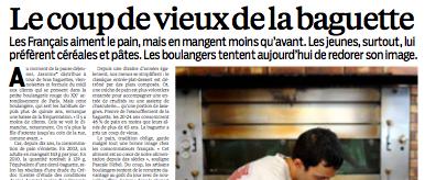 """Dans le Parisien daté du 26 juin, un article bien téléguidé au sujet de la fameuse campagne et du désamour pour le pain... Il y est question d'une baguette proposée """"en moyenne à 86 centimes"""", or c'est à mon sens l'un des noeuds du problème : ce produit n'est vraiment pas à l'honneur de nos boulangers, dans la plupart des cas."""