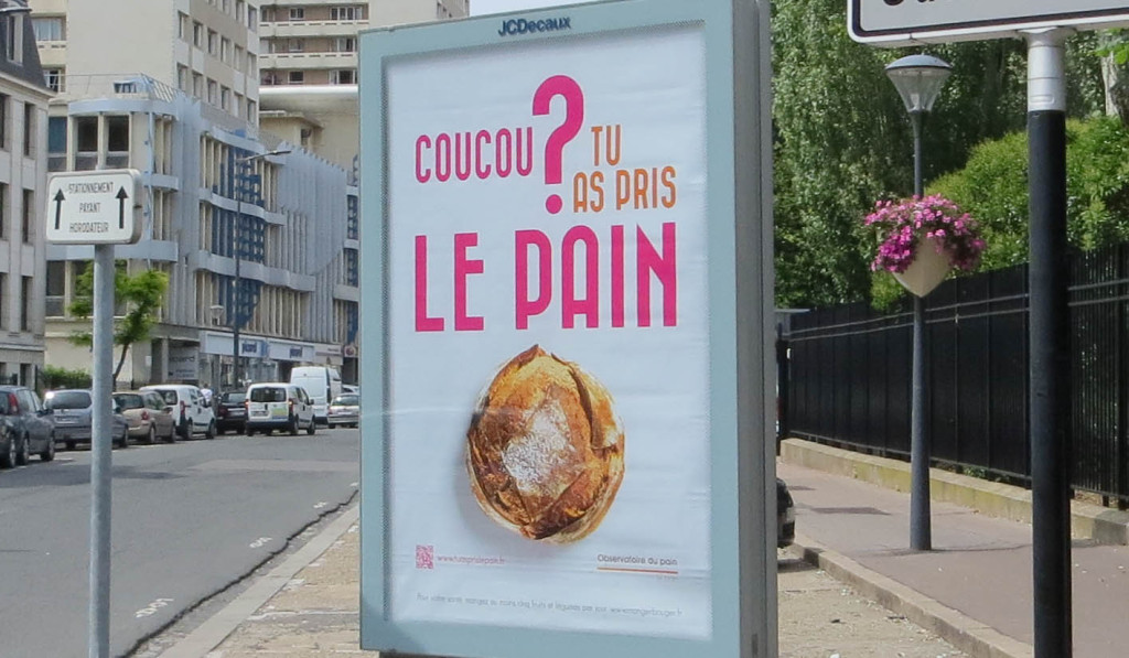 "Campagne ""Coucou, tu as pris le pain ?"""