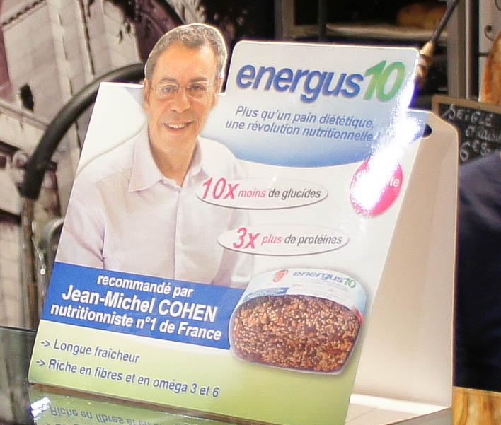 L'Energus 10 présenté par un fameux énergu...mène. Nutritionniste N°1 de France, il y a de quoi s'étouffer.