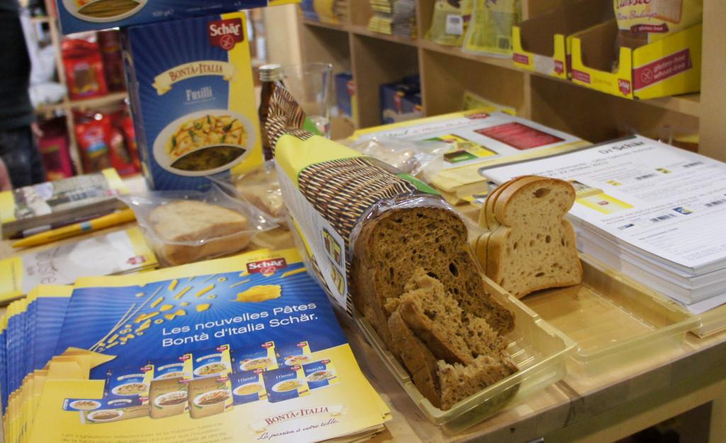 """Les """"pains"""" Schär sont sans Gluten, mais certainement pas sans additif."""