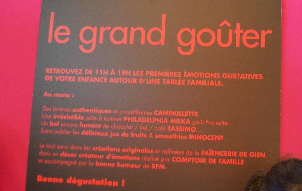 """A l'étage Confiserie, on peut également s'inscrire pour participer au """"Grand Goûter"""", notamment sponsorisé par... Campaillette (Grands Moulins de Paris). J'espère qu'au moins, le pain sera bon."""