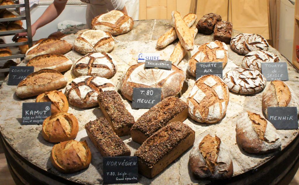 Les pains réalisés sur le stand Suire