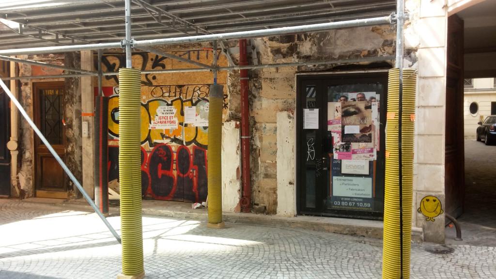 L'état actuel du chantier de la boutique Tartin'Art, 53 rue Montorgueil