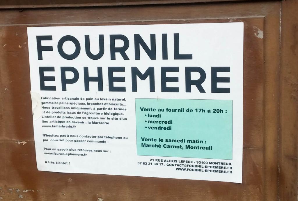 Fournil Ephémère, Montreuil (93)