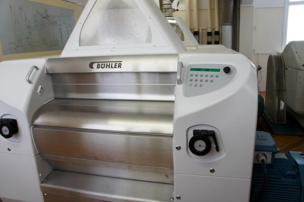 Une des dernières machines de mouture à cylindre installées à Chérisy.