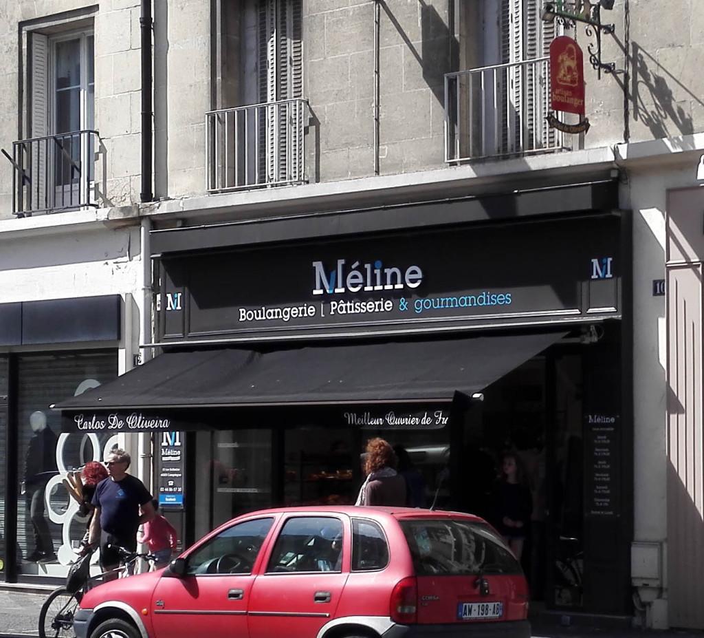 Devanture, Boulangerie Méline, Compiègne (60)