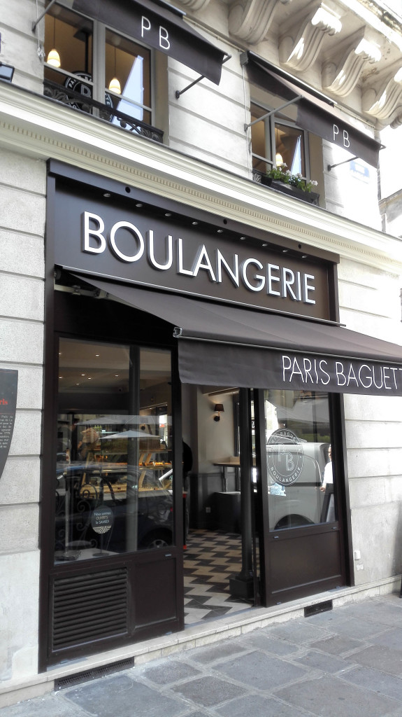 Devanture, Paris Baguette, rue Gaillon, Paris 1er