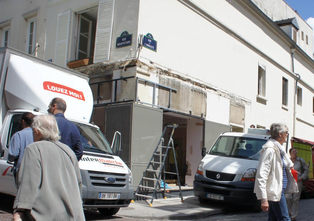 Chantier Morange rue Mouffetard