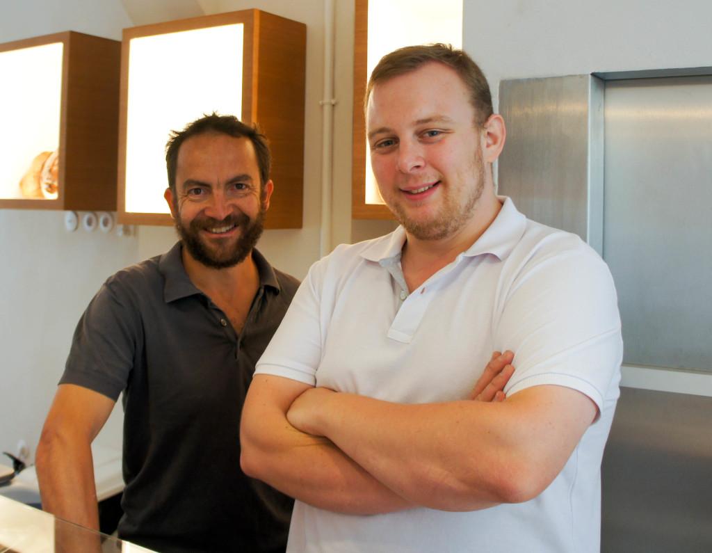 Julien Fouin et Tanguy Lahaye dans leur toute nouvelle boutique.