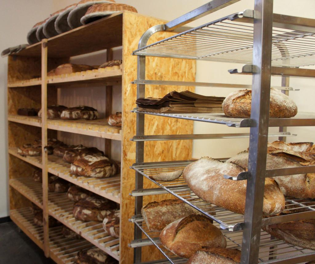 L'espace de vente au fournil de la ferme d'Orvilliers