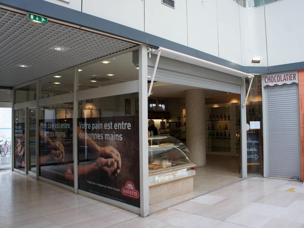 L'ancien espace de vente de Christian Nardeux sous les Halles de Tours, fraichement repris par l'Atelier du Talemelier.