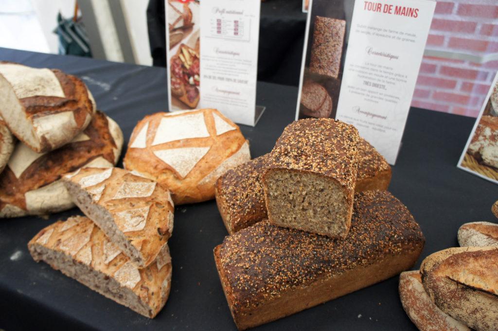 La Toscana (pain sans sel de Tradition toscane) et le Tour de Mains, pain aux graines d'inspiration nordique.