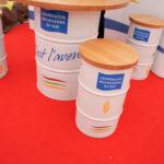 Le Stand de l'organisme stockeur Bourgogne Sud. Les partenariats locaux tissés par Nicot Meunerie lui ont notamment permis de travailler avec Bledina, qui exige une traçabilité complète des matières premières.