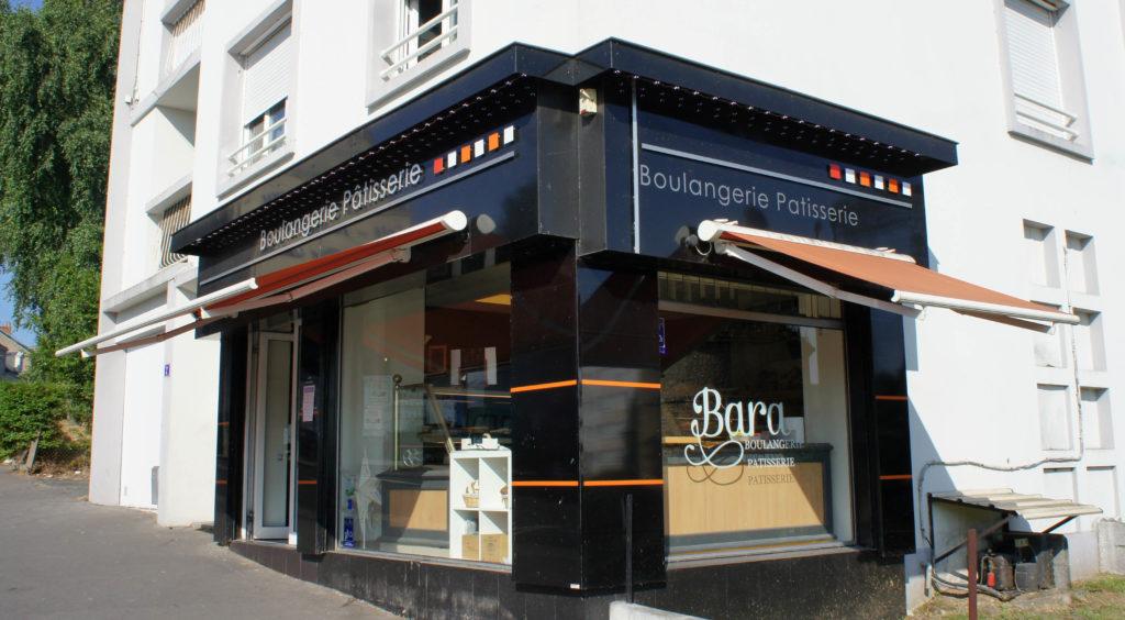 Dans le quartier de la Contrie, la boulangerie Bara développe son offre dans une boutique d'angle, qui domine les parcs avoisinant.