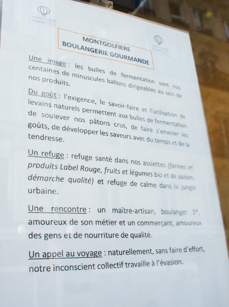 Le manifeste de la Boulangerie Montgolfière.