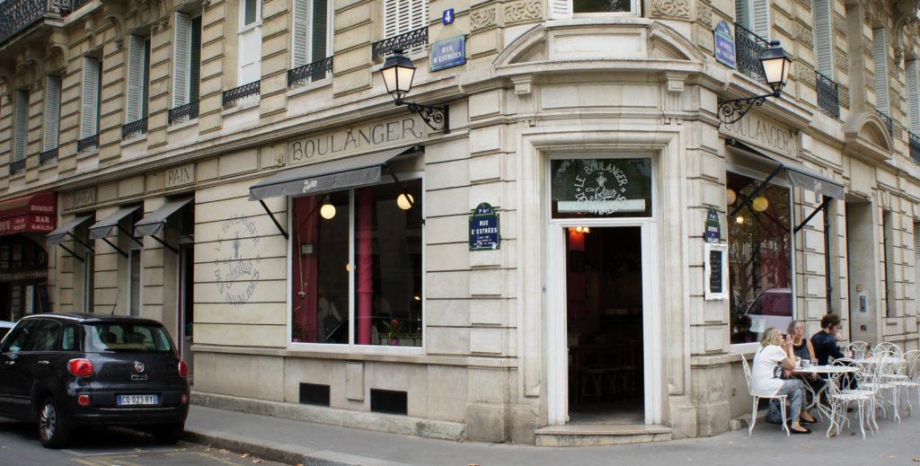 Le Boulanger des Invalides, Paris 7è. Rien n'a changé pour le moment, le nom Jocteur est toujours bien visible.