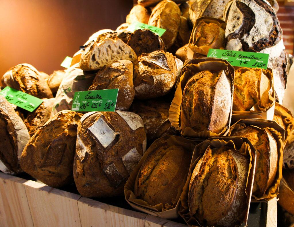 Les pains réalisés à partir de farines Biologiques.